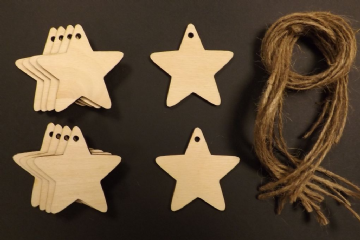 Star Gift Tags Xmas Decoration 120mm Pack of 10